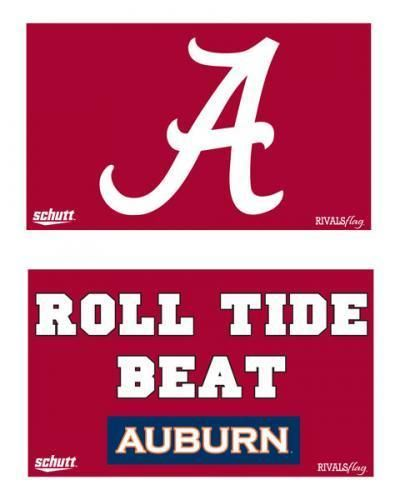 Schutt NCAA University of Alabama Crimson Tide (2 sided) Rivals Flag