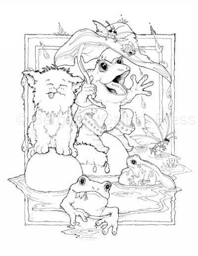 Little People Fairy and Fantasy Coloring Book J Bergsma