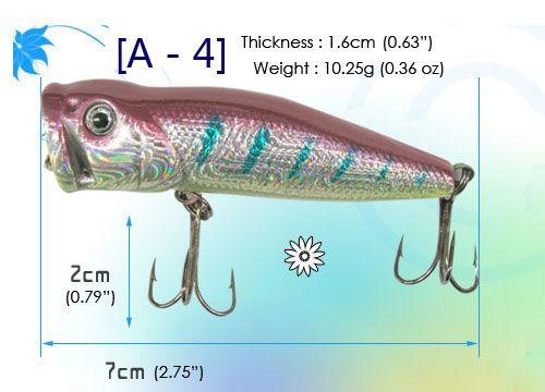 10 pcs Korea Brand High quality Fishing Lures Baits   Minnow, Popper