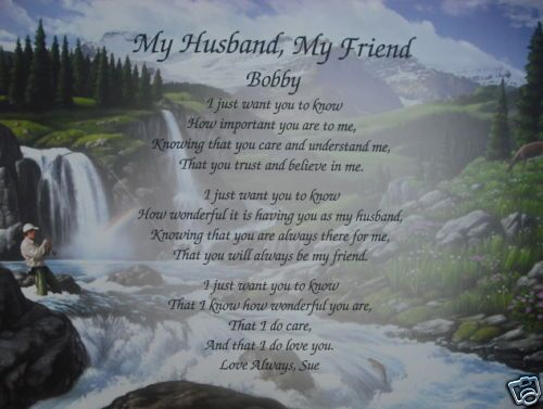 HUSBAND POEM UNIQUE FATHERS DAY, BIRTHDAY, CHRISTMAS GIFT IDEA