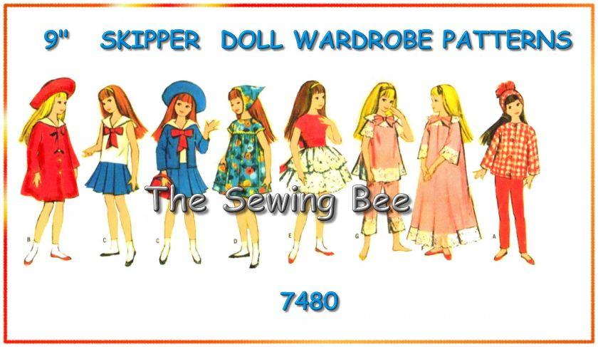 7480 Skipper Doll wardrobe Pattern 9 Barbie Sister