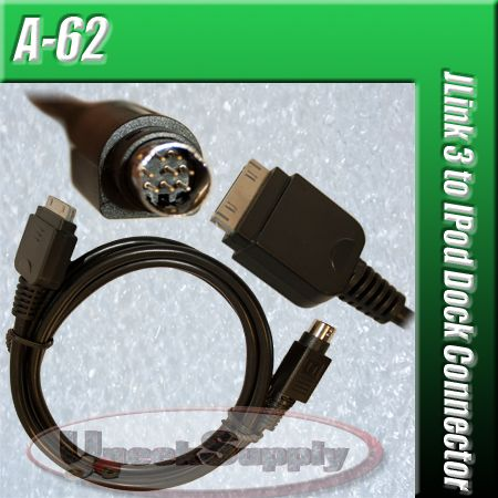 JENSEN jLINK3 8 PIN IPOD AUX INTERFACE CABLE ADAPTER 3