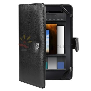 For Kindle Fire   Folio Leather Case Cover/Car Charger/USB Cable