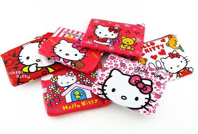 Wholesale 6 pcs Hello Kitty Big Coin Purse Bag KT P12