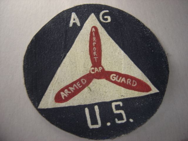 WWII CIVIL AIR PATROL ARMED AIRPORT GUARD PATCH