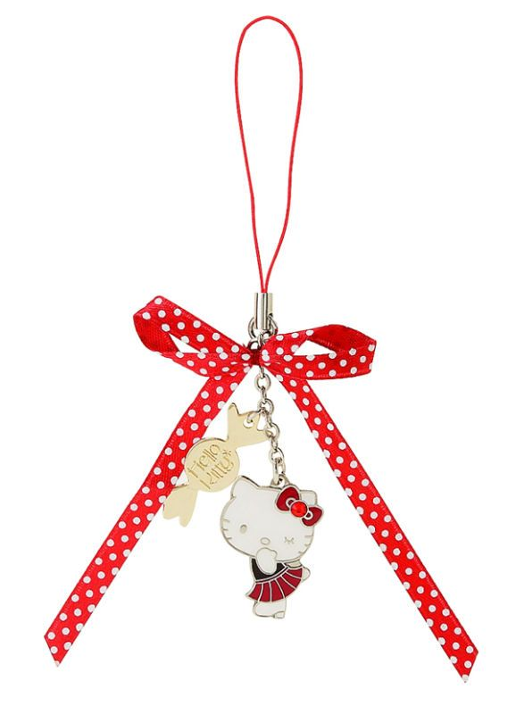 NEW Sanrio Hello Kitty Cell Phone Charm w/Ribbon Cute