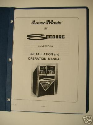 Seeburg SCD 1A Jukebox Install and Operation Manual